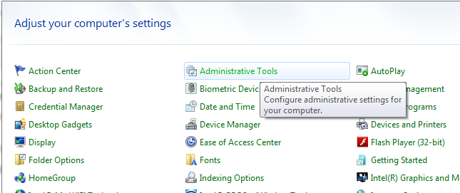 image of administrative tools