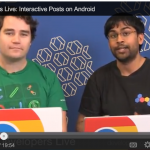 Targeting Interactive Post recipients in Android