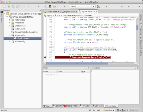 Developing in C# from OS X using MonoDevelop